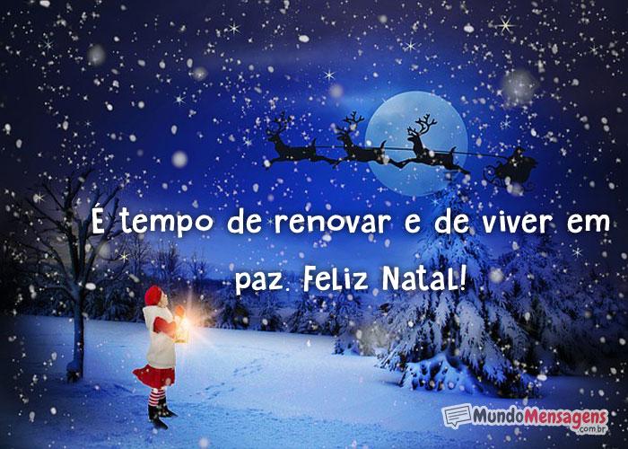 Mensagem de Renovar no Natal
