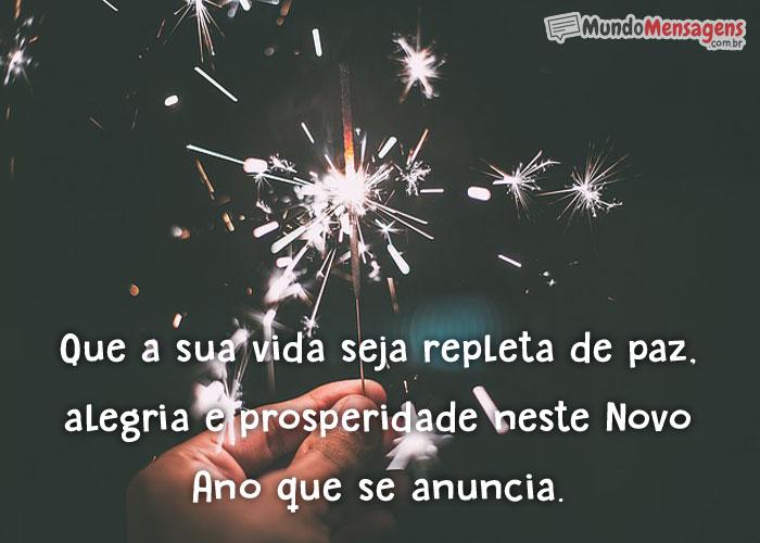Alegria e prosperidade neste novo ano