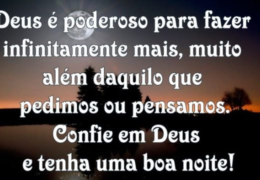 Confie em Deus e tenha uma boa noite