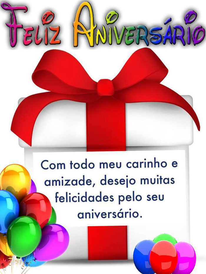 Desejo muitas felicidades pelo seu aniversário