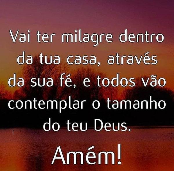 Milagre através da sua fé