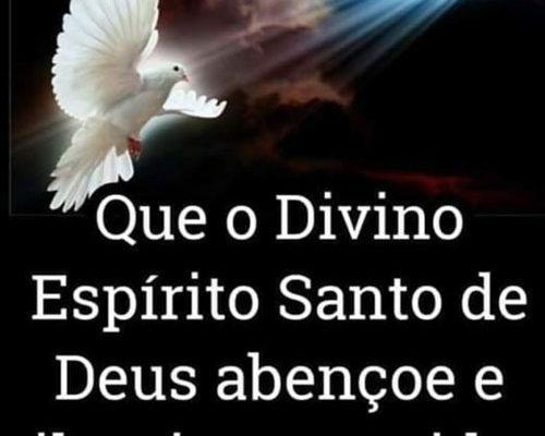 Que o Divino Espírito Santo de Deus abençoe