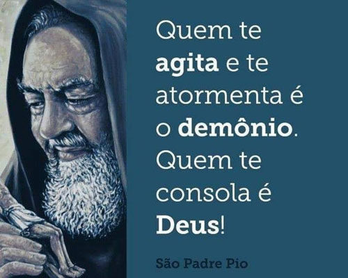 Quem te consola é Deus