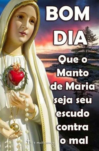 Mensagem Bom dia Manto de Maria
