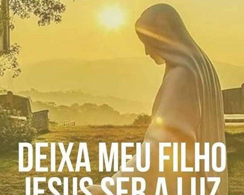 Deixa meu filho Jesus ser a luz da sua vida