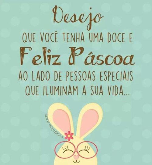 Desejo uma Feliz Páscoa