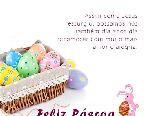 Jesus ressurgiu Feliz Páscoa