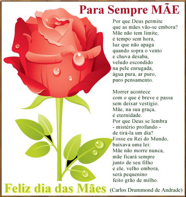 Para Sempre Mãe Mensagem Dia Das Mães Mundo Mensagens