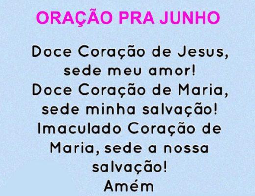 Oração pra Junho
