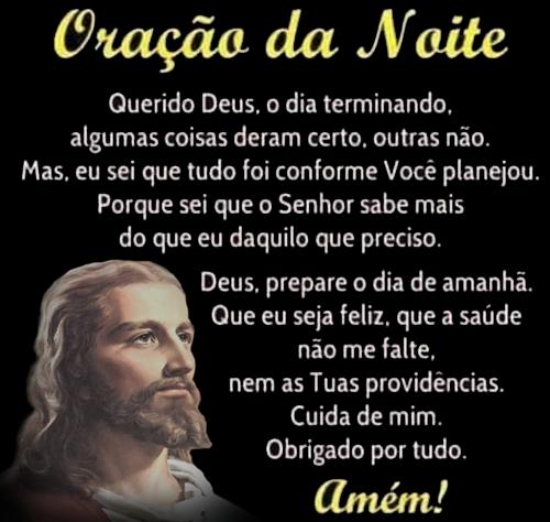 Oração da Noite o dia terminando Amém
