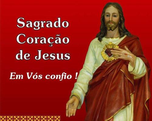 Sagrado Coração de Jesus Em Vós confio
