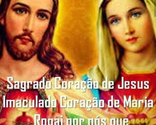 Sagrado Coração de Jesus Imaculado Coração de Maria