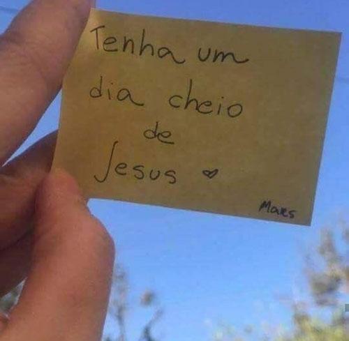 Tenha um dia cheio de Jesus