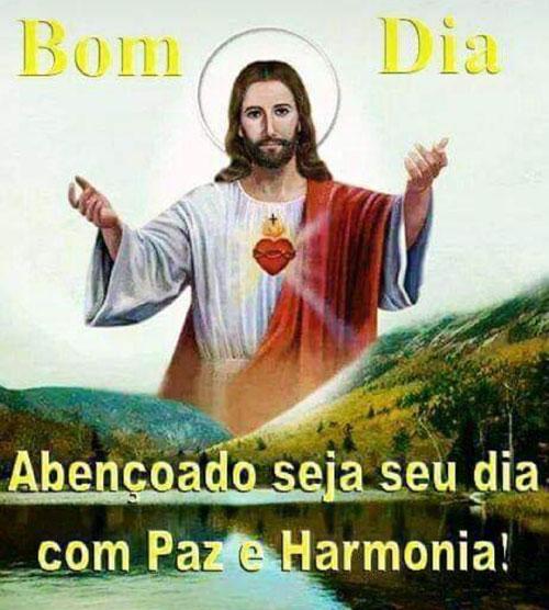 Abençoado seja seu dia com Paz e Harmonia