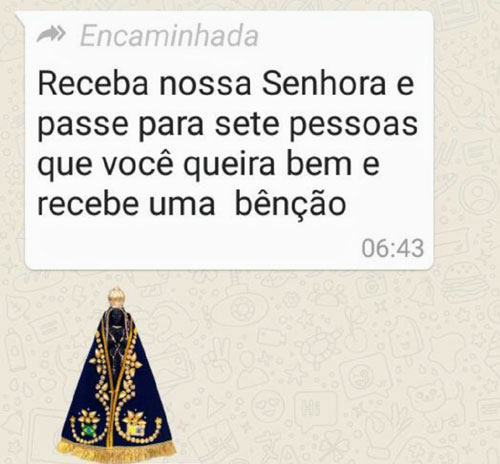 Receba Nossa Senhora WhatsApp