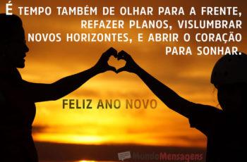 Abrir o coração para sonhar Feliz Ano Novo