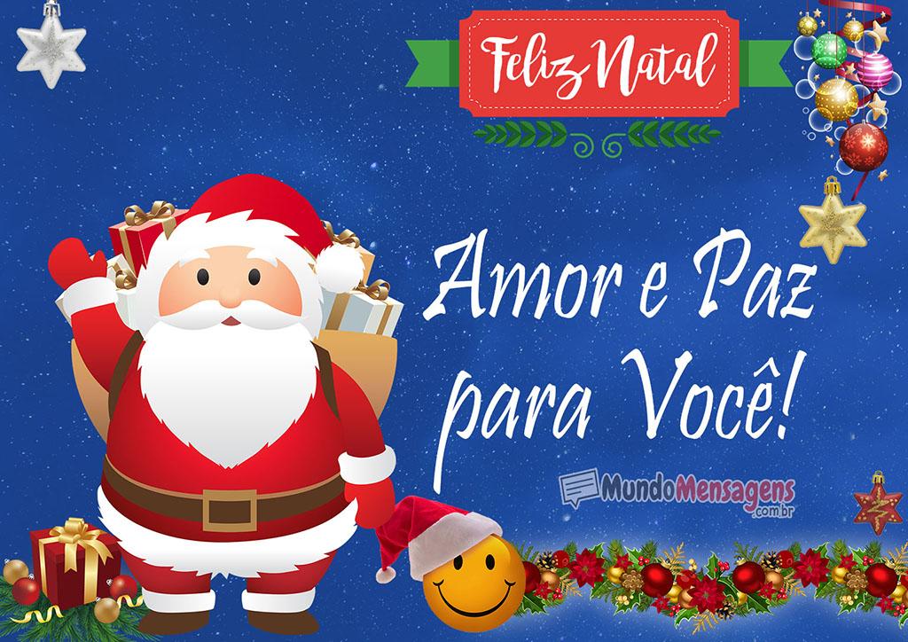 Amor e Paz para Você Feliz Natal