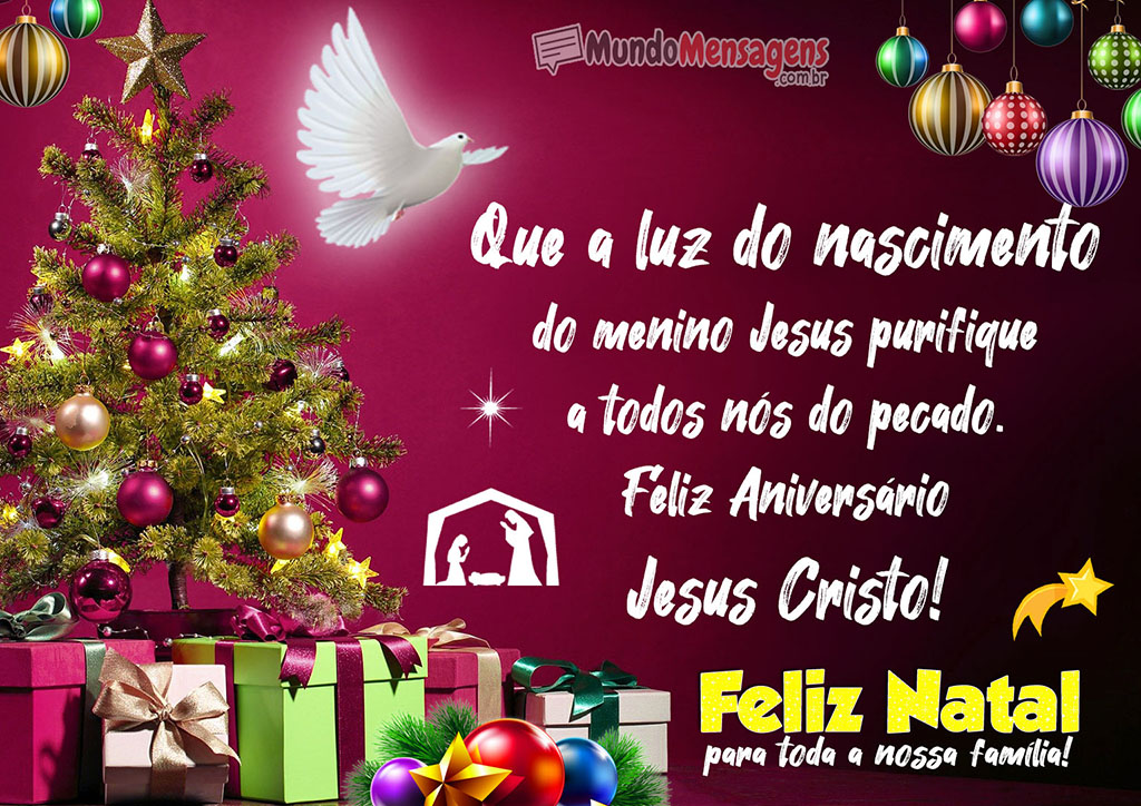 Feliz Aniversário Menino Jesus Feliz Natal