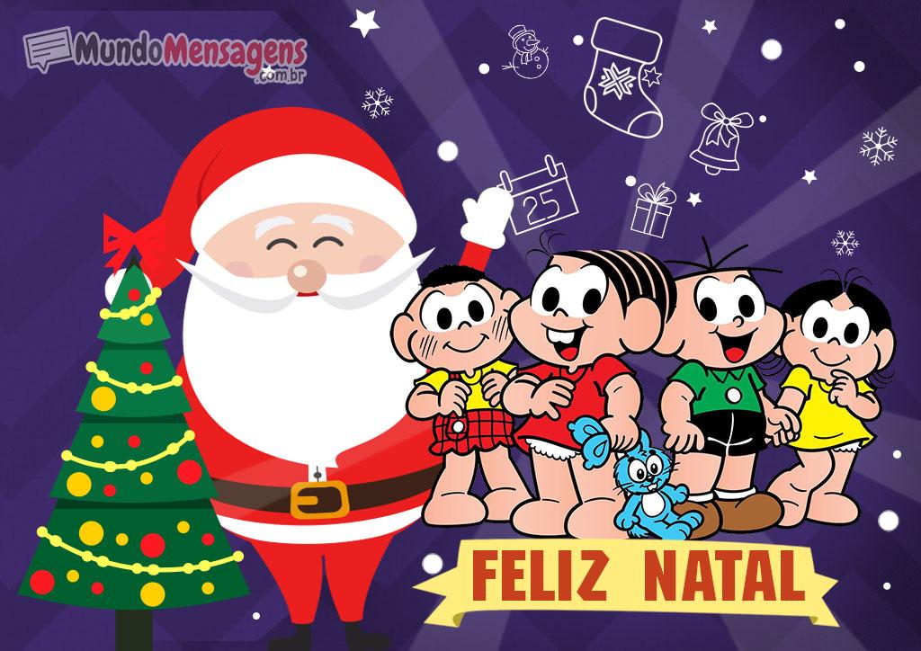 Feliz Natal da Turma da Mônica e Papai Noel
