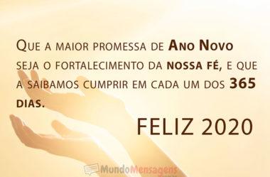 Promessa de Ano Novo Feliz 2020