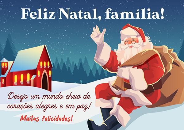 Papai Noel Desejando um Feliz Natal