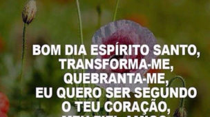 Bom dia Espírito Santo Transforma-me