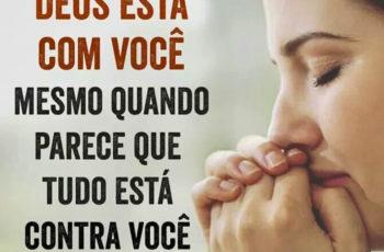 Deus está com você