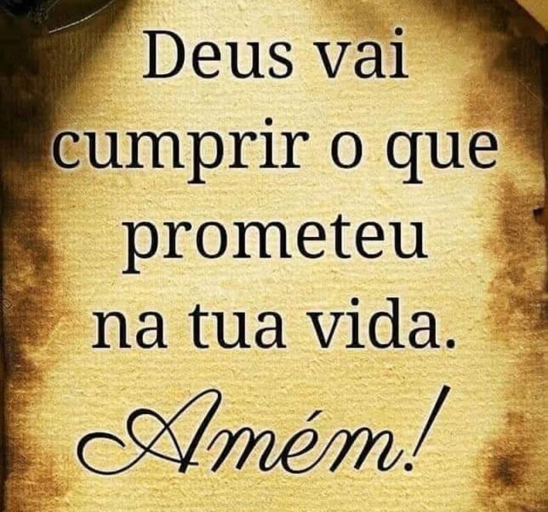 Deus vai cumprir o que prometeu