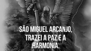 São Miguel Arcanjo trazei paz e a harmonia