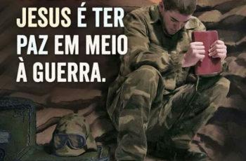 Viver com Jesus é ter paz em meio à guerra