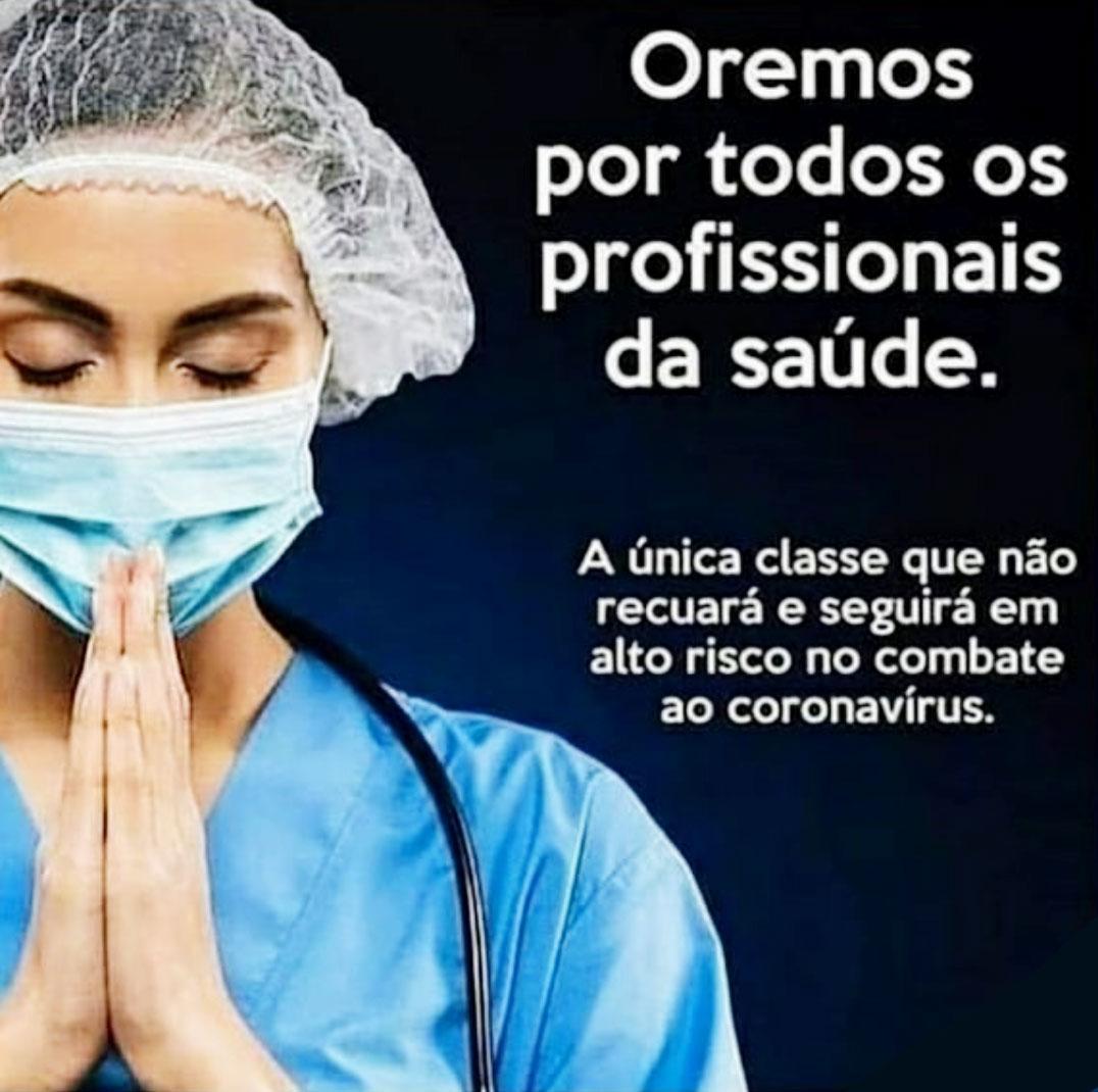 Oremos por todos os profissionais da saúde