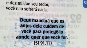 Deus mandará que os anjos dele cuidem de voc