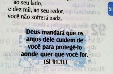 Deus mandará que os anjos dele cuidem de você